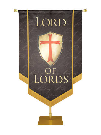 "Picture of Lord of Lords Banner Black - 3' 6"" x 5'"