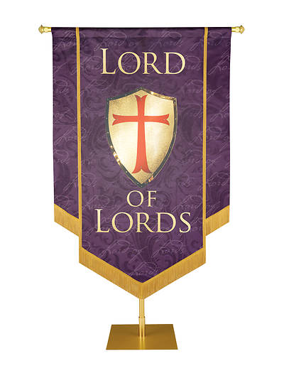 "Picture of Lord of Lords Banner Amethyst - 3' 6"" x 5'"