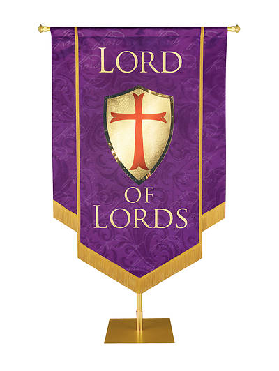 """Picture of Lord of Lords Banner Purple - 3' 6"""" x 5'"""
