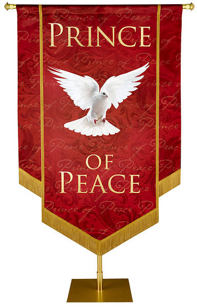 Picture of Prince of Peace Banner Red - 5' x 7'