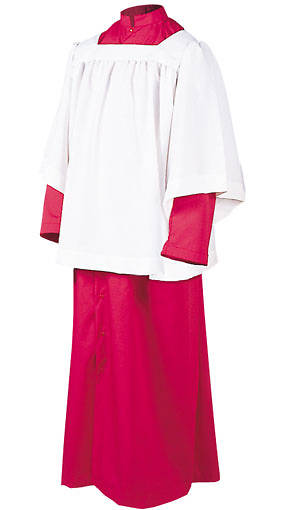 Picture of Abbey Brand Style 215S Acolyte Cassock Red - 16