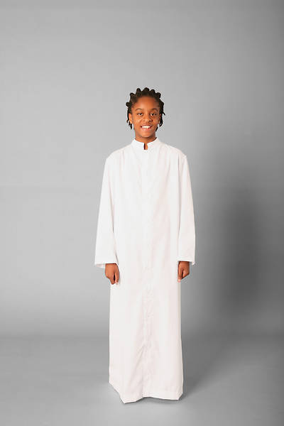 Picture of Abbey Brand Style 215S Acolyte Cassock White - 12