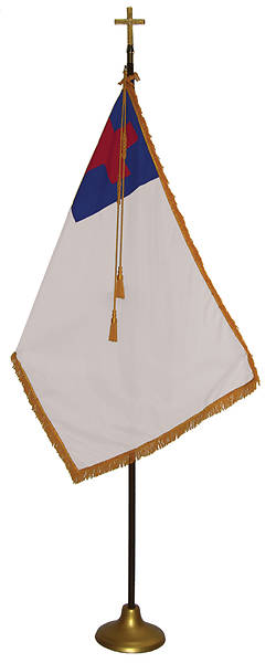 Picture of Christian Indoor Deluxe Flag Set Oak Pole - 2.5' x 4'