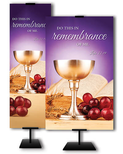 "Picture of ""Do This In Remembrance of Me"" Communion Banner"