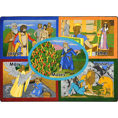 Bible Stories Childrens Area Rug