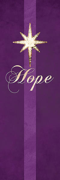 Picture of Chrismons Hope Banner Purple - 2' x 6'