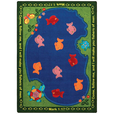 """Picture of Fishers of Men Children's Area Rug Rectangle 10'9"""" x 13'2"""""""
