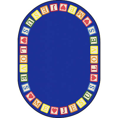 Picture of Blocks of Love Children's Area Rug