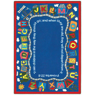 Bible Train Childrens Area Rug