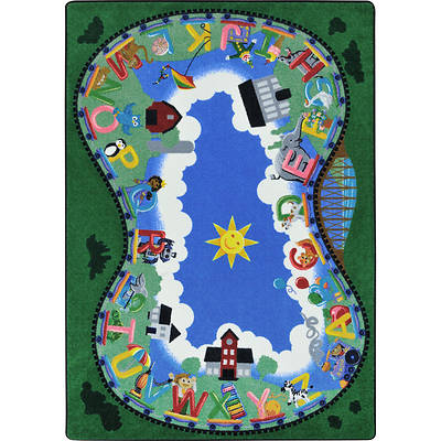 Picture of Alphabet Railway Area Rug