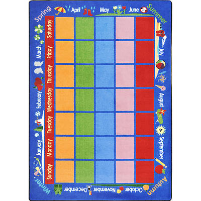 "Picture of Celebrations Calendar Children's Area Rug Rectangle 10'9"" x 13'2"""
