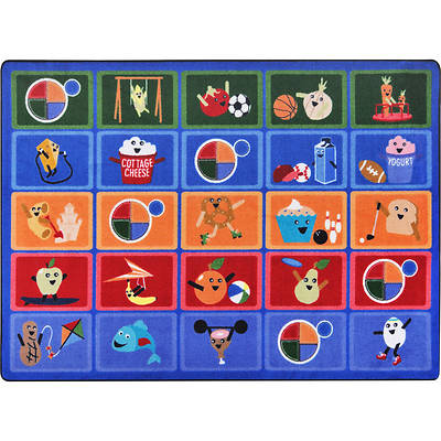 """Picture of Healthy Choices Children's Area Rug Rectangle 5'4"""" x 7'8"""""""