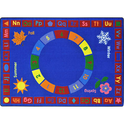 Learning Time Childrens Area Rug