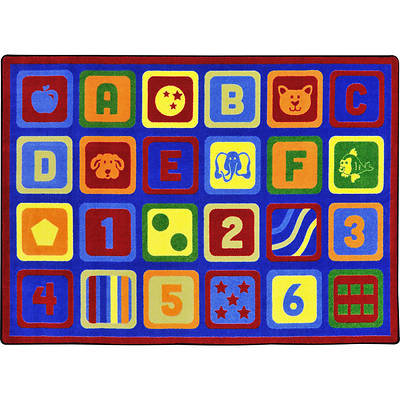 Letters Count Childrens Area Rug