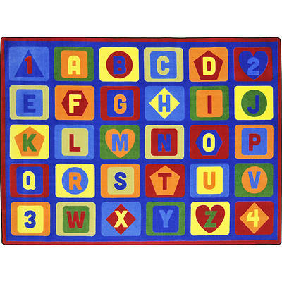 "Picture of Lots to Learn Children's Area Rug Rectangle 10'9"" x 13'2"""