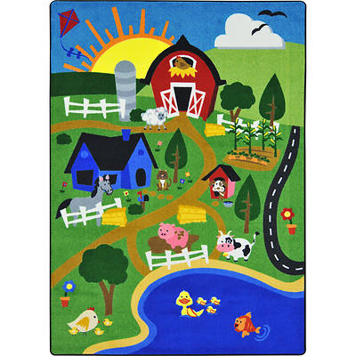 "Picture of Happy Farm Children's Area Rug Rectangle 10'9"" x 13'2"""