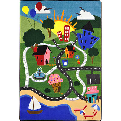 "Picture of Happy Town Children's Area Rug Rectangle 10'9"" x 13'2"""