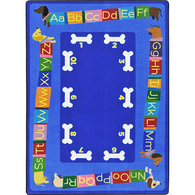 Doggone Good Alphabet Childrens Area Rug