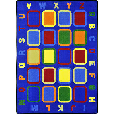 Alphabet Tiles Childrens Area Rug