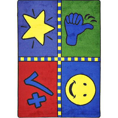 Motivation Mat Childrens Area Rug