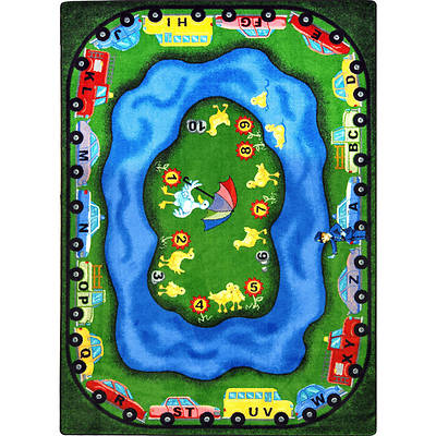 "Picture of Puddleducks Children's Area Rug Rectangle 10'9"" x 13'2"""