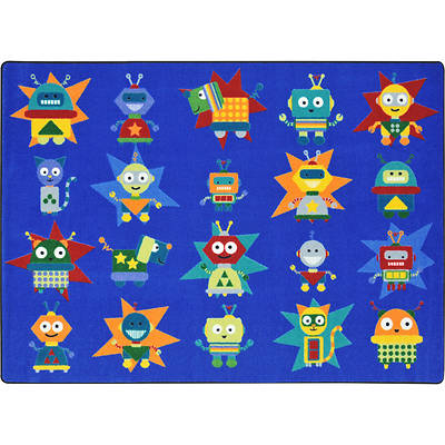 Robot Invasion Childrens Area Rug
