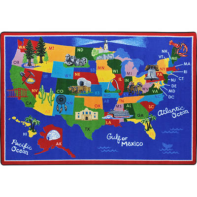 Picture of America the Beautiful Children's Area Rug