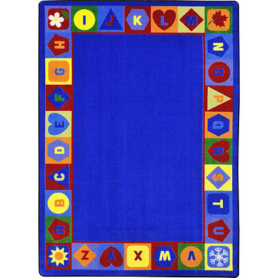 Seasons & Shapes Alphabet Childrens Area Rug