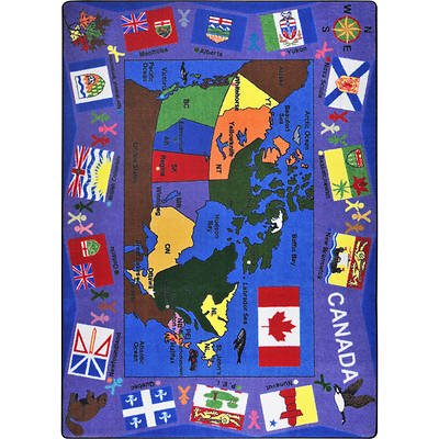 """Picture of Flags of Canada Children's Area Rug Rectangle 5'4"""" x 7'8"""""""