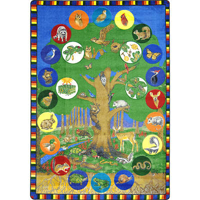 "Picture of Tree of Life Children's Area Rug Rectangle 5'4"" x 7'8"""