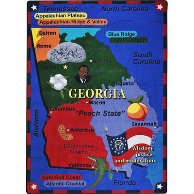 Picture of State the Facts - Georgia Children's Area Rug