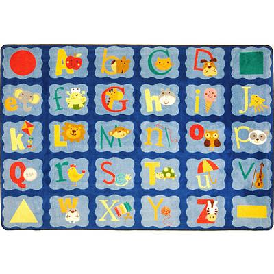 Picture of Alphabet Blues Children's Area Rug