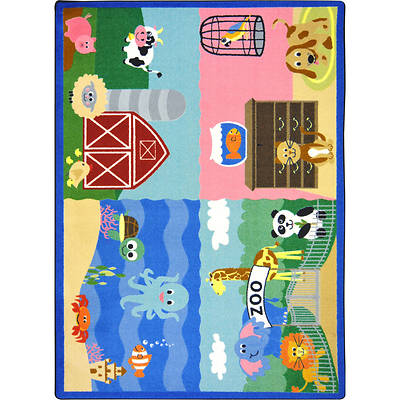 Picture of Animals All Around Children's Area Rug