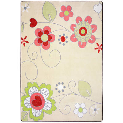 "Picture of Pretty Posies Children's Area Rug Rectangle 3'10"" x 5'4"""