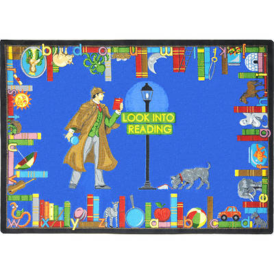 "Picture of Look Into Reading Children's Area Rug Rectangle 5'4"" x 7'8"""