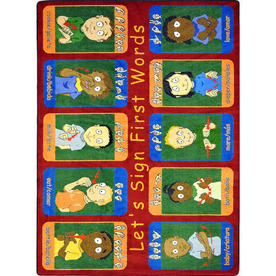 "Picture of First Signs Children's Area Rug Rectangle 7'8"" x 10'9"""