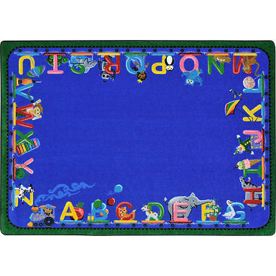 """Picture of Choo Choo Letters Children's Area Rug Rectangle 10'9"""" x 13'2"""""""