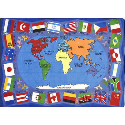 Picture of Flags of the World Children's Area Rug