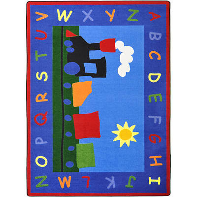 "Picture of Tiny Train Children's Area Rug Rectangle 10'9"" x 13'2"""