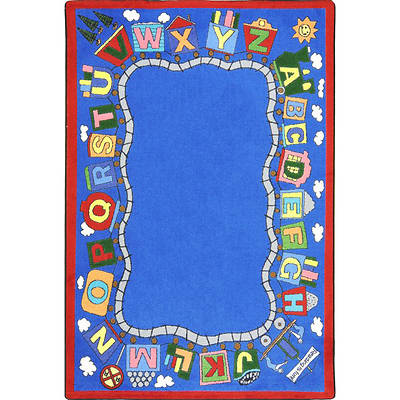 Picture of Reading Train Children's Area Rug