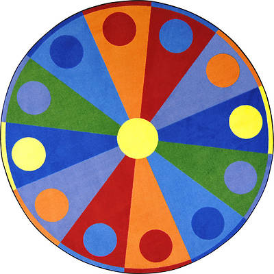 Color Wheel Childrens Area Rug