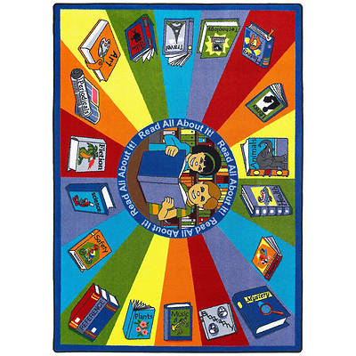 Read All About It Childrens Area Rug