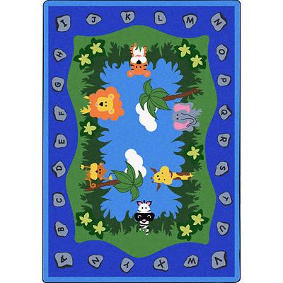 Picture of Jungle Peeps Children's Area Rug