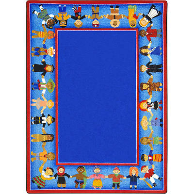 Picture of Children of Many Cultures Children's Area Rug Round 5'4""