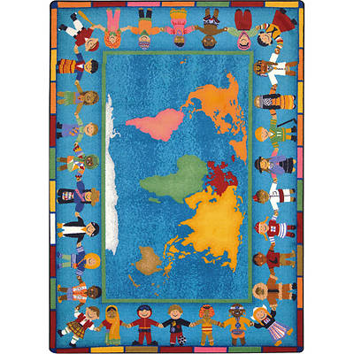 Hands Around the World Childrens Area Rug