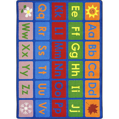 Any Day Alphabet Childrens Area Rug