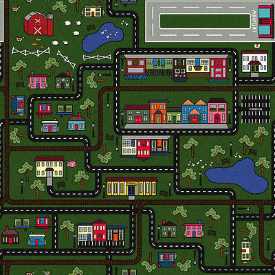 "Picture of Tiny Town Children's Area Rug Multi 10'9"" x 13'2"""