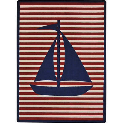"""Picture of Following Seas Children's Area Rug Blue 10'9"""" x 13'2"""""""