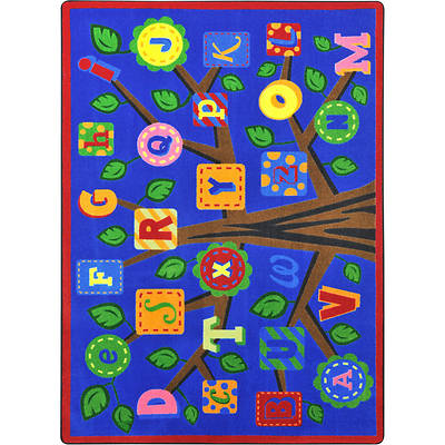 Picture of Alphabet Leaves Children's Area Rug