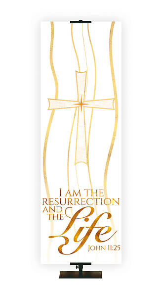 Picture of Resurrection And The Life Cross Banner